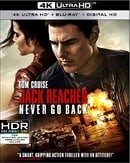 Jack Reacher: Never Go Back (UHD/BD/Digital HD Combo)