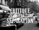 Critique de la séparation