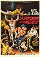 Blue Demon y Zovek en La invasión de los muertos