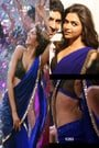 Deepika Padukone's Royal Blue Saree in Yeh Jawaani Hai Deewani
