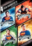 4 Film Favorites: Superman (Superman II: Special Edition, Superman III: Deluxe Edition, Superman IV: