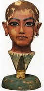 Unknown Egyptian artist: Wooden head of Tutankhamun
