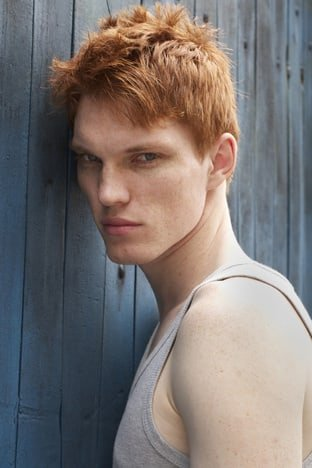 Red head male models