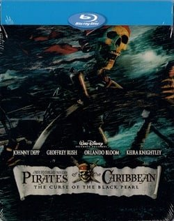 Pirates of the Caribbean The Curse of the Black pearl Blu-ray SteelBook