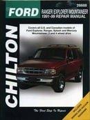 Ford Ranger, Explorer, and Mountainer, 1991-99 (Chilton
