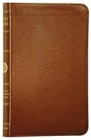 The Holy Bible: English Standard Version, Compact Edition (Premium British Tan Bonded Leather, Red L