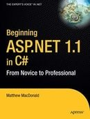Beginning ASP.NET 1.1 in C#: From Novice to Professional (Novice to Professional)