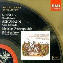 Strauss: Don Quixote; Schumann: Cello Concerto / Rostropovich, Karajan, et al
