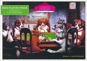 Dogs Playing Poker Calendar 2004