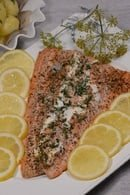 Finland Salmon Stuffed with Cheese and Herbs