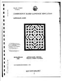 Competency Based Language Education Curriculum Guide [Tunisian Arabic]